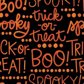 Spooky Halloween Lettering