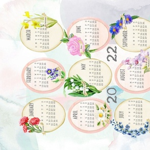 2021 birth flowers tea towel calendar