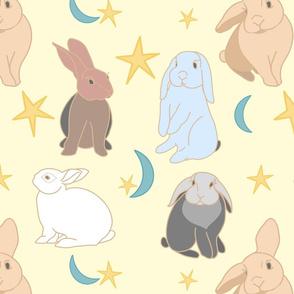 Nite Nite Bunny Lt Yellow