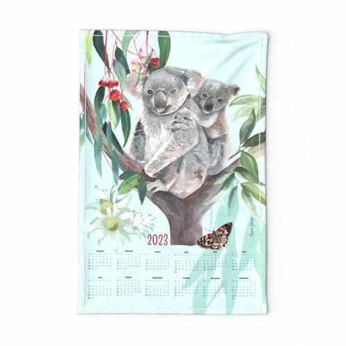 For the Love of Koalas-TeaTowel-2021 Calendar