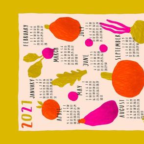 Vegetable calendar 2021