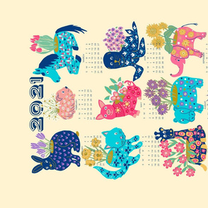 Animal Flower Pots, 2021 Calendar