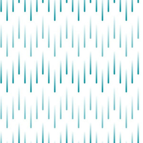 Cascading Rain Chevron in Teal
