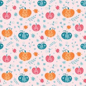 Decorative Pumpkins on Pink