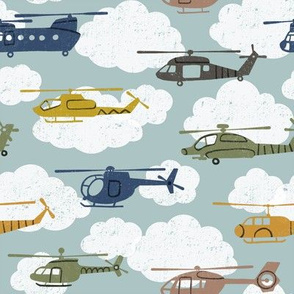 Helicopters in the Clouds