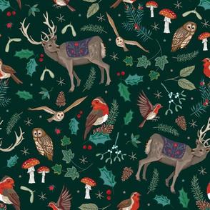 festive woodland dark