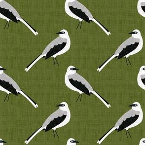 Bird Alphabet - M is for Mockingbird
