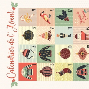 Advent Calendar Fabric - French