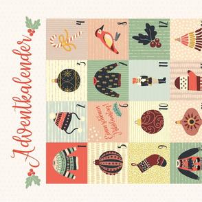 Advent Calendar Fabric - German