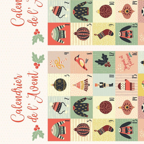 Advent Calendar Wallpaper - French