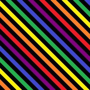 Crayon Stripes on Black (diagonal)