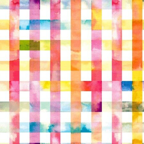 Gingham watercolor Multicolored