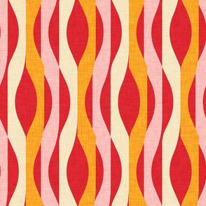 Mod Stripes Red