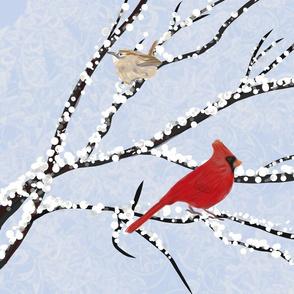 Winter Birds Southwest Virginia - Tea Towel
