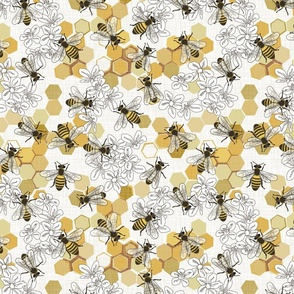 Save The Honey Bees - Medium - White
