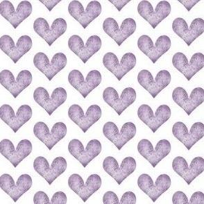 water color heart purple
