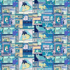 Desktop of a Cat Artist- alternate