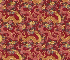 chinese dragons red