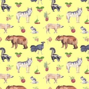 Woodland Animals Yellow