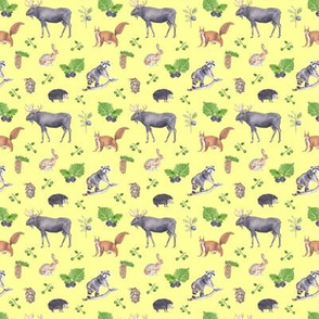 Woodland  Animals Yellow