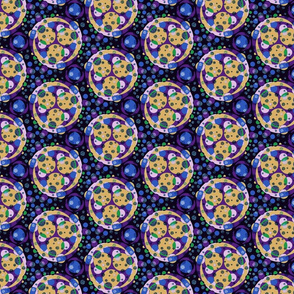 Petrie dish - navy and purple