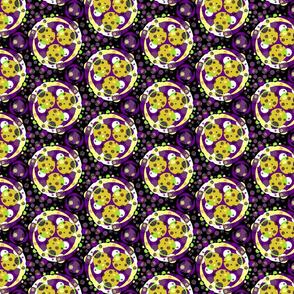 Petrie dish - yellow and purple