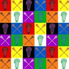 Lacrosse Stick Multicolor 1 inch squares