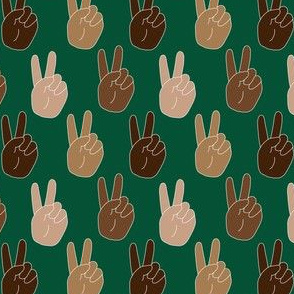 Peace - Peace Sign Small, Dark Green