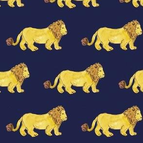 Lion in Royal Blue