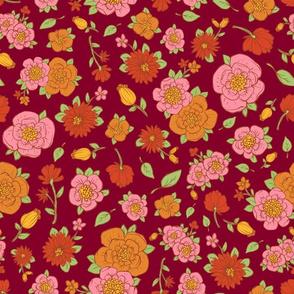 Retro Flowers 4