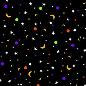 Halloween Dots Stars Moons V2