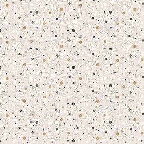 Polka dots. Warm colors. Micro scale