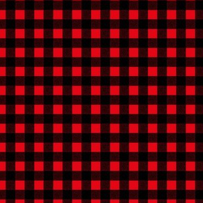 Canada camping theme christmas buffalo plaid check design abstract outdoors design winter black red SMALL