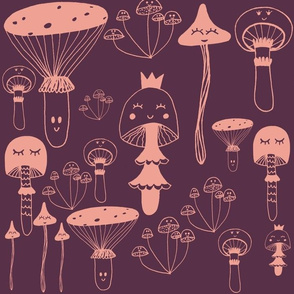 Mushroom girls dark