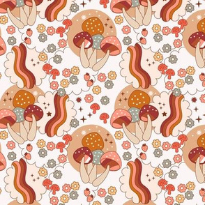 groovy mushrooms- burgundy light