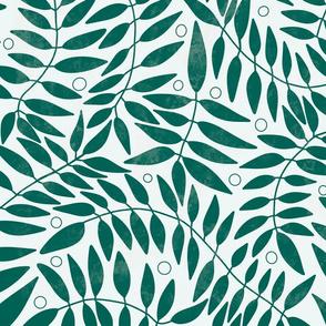 Botanical leaves, simple greenery, climbing vines