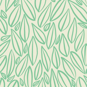 Hand drawn leaves, simple leaves, simple botanicals