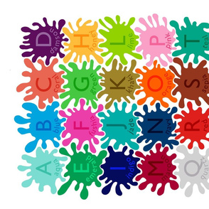 Color Splat Alphabet Wall Hanging