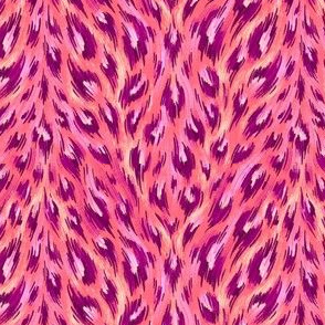 Leopard Print - Pink / Coral - Small Scale