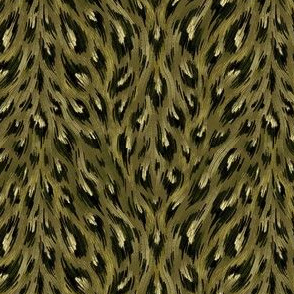 Leopard Print - Olive Green - Small Scale