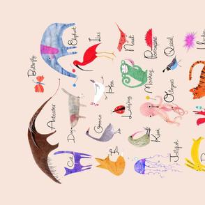 Animal Alphabet Teatowel