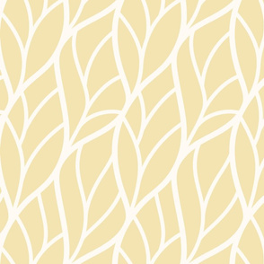 Abstract leaves light yellow off-white