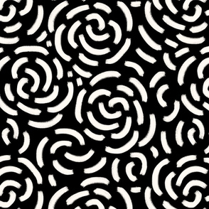 Abstract roses black and white