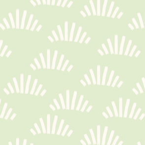 Brush strokes abstract fans light green