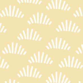 Brush strokes abstract fans light yellow