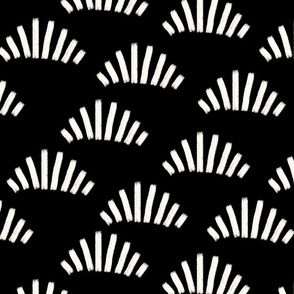 Brush strokes abstract fans black