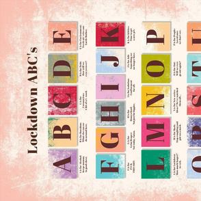 Lockdown ABC's alphabet tea towel