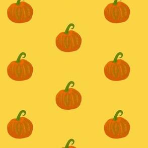 Little Pumpkins in Warm Sunlight - Small Scale