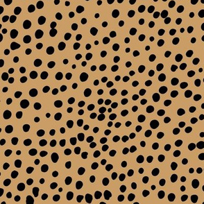 Cheetah wild cat spots boho animal print abstract spots and dots in raw ink cheetah dalmatian neutral nursery mustard yellow LARGE