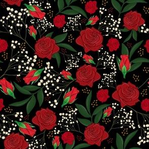 rose bud leaves black